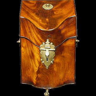 A Fine Georgian Mahogany Knife Box Converted to a Tantalus, England Circa 1790