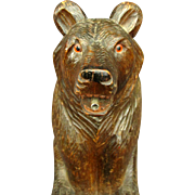An Early 20th Century Black Forest Spirit Decanter in the Form of a Seated Bear, Swiss Circa 1920