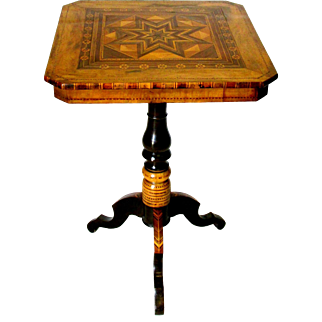 A Stunning 19th Century Signed Sorrento Parquetry Occasional Table, Italy Circa 1890