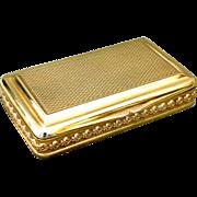 A Very Fine & Heavy George III Silver-Gilt Snuff Box by Daniel Hockley, London 1814