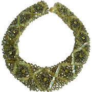 Vintage Ladies Hand Beaded Collar Necklace