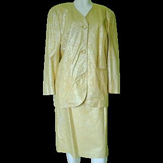 Sibylle Lyn Designs Ladies Suede Suit Jacket and Skirt