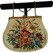 Ladies Vintage Tapestry Floral Handbag