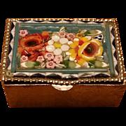Mini Mosaic Floral Trinket Box Italy