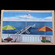 1930s Martha's Vineyard Postcard Pier in Oak Bluffs, MA