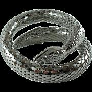 Whiting & Davis 1970's Silver-tone Snake Bracelet