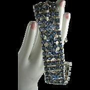 Elegant Icy Blue Rhinestone Vintage Bracelet