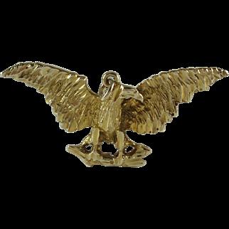 14K Yellow Gold Eagle Pendant 7.6 grams