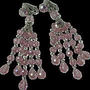 Sherman Pink Chandelier Bead Clip-on Earrings