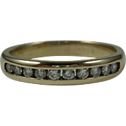 14k Yellow Gold Diamond Ring-Size 9