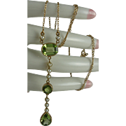 14K Peridot Seed Pearl Necklace Appraised $1,700 CDN ($1,300 USD)