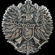 Vintage Coat of Arms Silver-tone Pendant/Brooch
