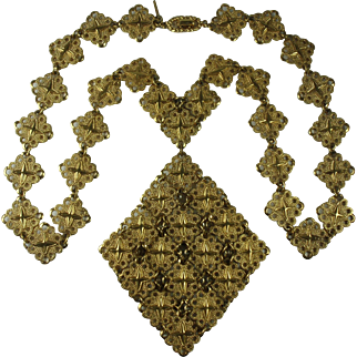 D'ORLAN 1970's Statement Necklace Gold-Tone