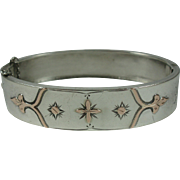 Antique French Silver & Rose Gold Bracelet