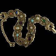 1960's Goldette NY Slide Charm Bracelet