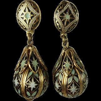 Lovely Spanish Toledo Ware Vintage Earrings