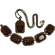 Vintage 1960s Judy-Lee Bracelet & Necklace-Book Pieces