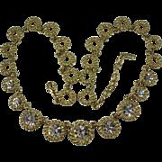 1960's Coro Vendome Clear Rhinestone Necklace