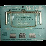 Vintage 1960s Handbag Frame-New York
