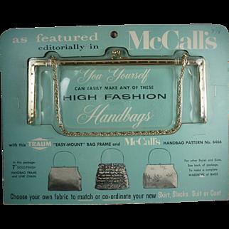1960's New York Traum Handbag Frame, Original Package