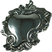 Vintage Sterling Brooch/Pendant Rococo Style
