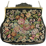 Vintage 1940s Micro Petit Point Purse-Austrian