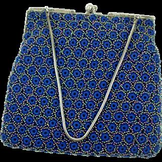 Vintage 1950's Beaded Crochet Purse