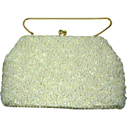 Vintage 1960s Bead & Sequin Purse