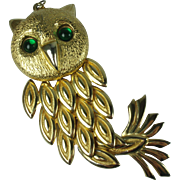 Vintage 1970s Owl Pendant