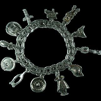 Sterling Charm Bracelet-12 Charms
