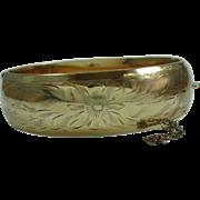 Vintage Gold Filled Etched Bracelet