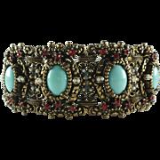 Vintage Rhinestone Statement Bracelet