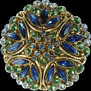 Vintage Florenza Rhinestone Brooch