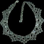Vintage Crystal Bib Necklace