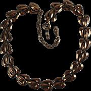 Vintage Renoir Copper Choker Necklace