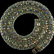 Vintage Sherman Aurora Borealis Rhinestone Necklace-Spectacular