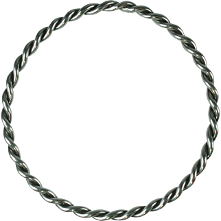 Vintage Sterling Silver Twisted Rope Bangle Bracelet