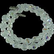 Vintage Crystal Aurora Borealis Bead Necklace