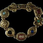 Vintage Goldette Charm Bracelet