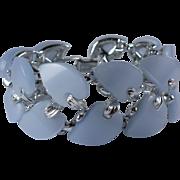 Vintage 1950s Blue Thermoset Lucite Bracelet Signed Claudette