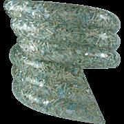 Vintage Blue Confetti Lucite Clamper Bracelet
