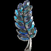 Vintage Austrian Crystal Rhinestone Brooch Schoffel & Company