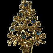 Vintage Avon Rhinestone Christmas Tree Brooch
