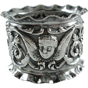 Antique 1901 Walker and Hall Sterling Silver Napkin Ring Sheffield