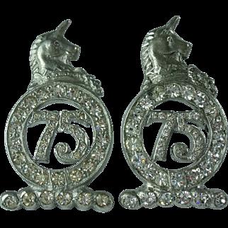Vintage 75th Anniversary Unicorn Pins Anthony Originals & Birks
