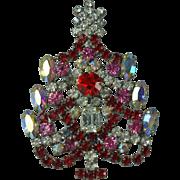 Vintage Czech Christmas Tree Brooch