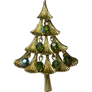 Vintage MYLU Christmas Tree Brooch