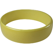 Vintage Yellow Bakelite Bangle Bracelet