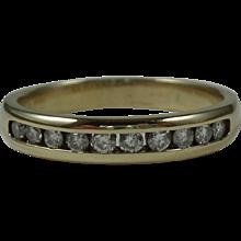 Vintage 14 Karat Yellow Gold Diamond Ring-Size 9