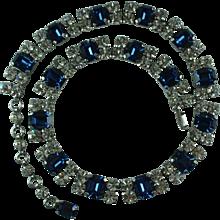 Vintage 1950s Austrian Crystal Rhinestone Necklace Schoffel & Company